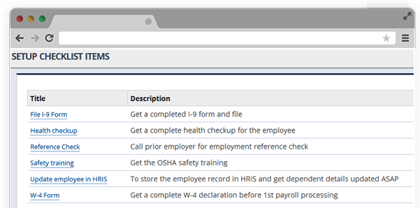 Create Onboarding Checklist HR software