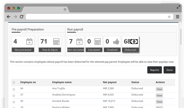 Easily Process and manage Payroll Dashboard