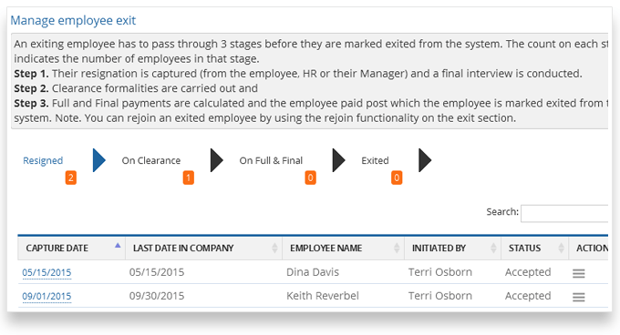 Manage Employee Exits Offboarding
