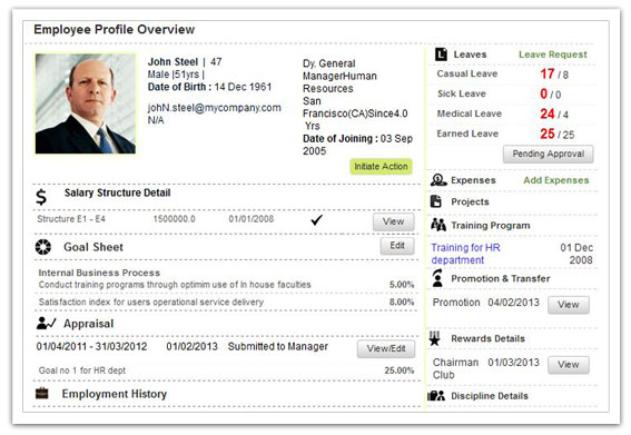 Employee Profile in the HRMS module