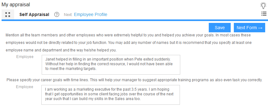 Use Empxtrack To Quickly Complete Employee Evaluation – Self Appraisal Form Template