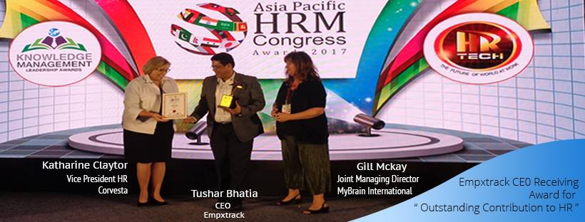 Tushar Bhatia awarded at Asia Pacific HRM Congress 2017