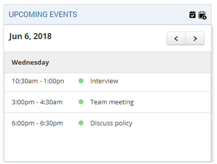 Quick Glance to all Events Scheduled for a Specific Day